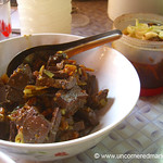 Burmese Food, Blood Bouillon Curry - Toungoo, Burma