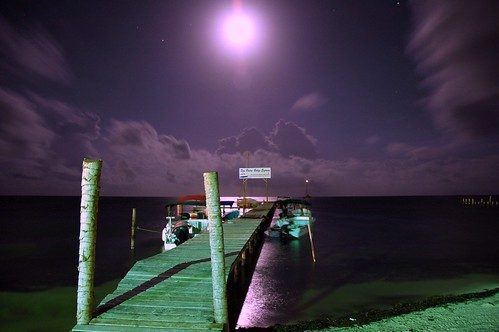 Belize Dock at Night - 1