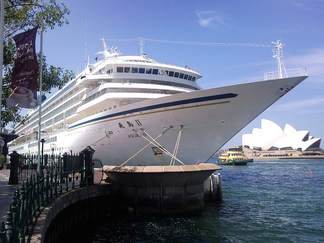 The Asuka II Cruise Ship Docked At Circular Quay Sydney
