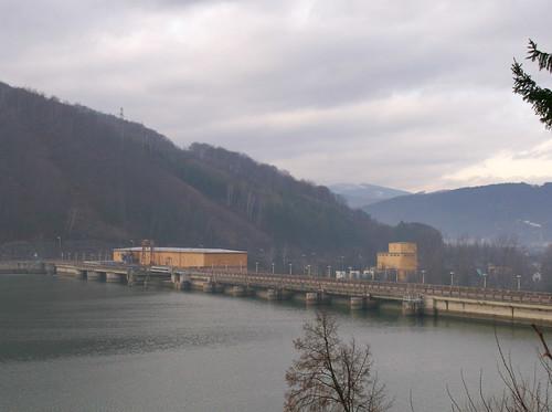 Dam on Vah River,Nosice, Slovakia