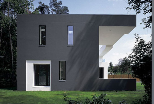 Minimalist house design minimalist house design black wall for Black home design