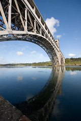 Reflections of Britannia Bridge