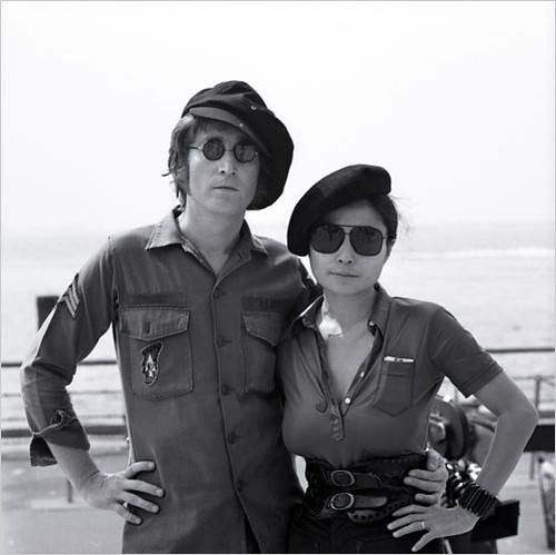 John Lennon and Yoko Ono, Battery Park, NYC