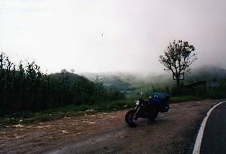 A lonely highway in Chiapas