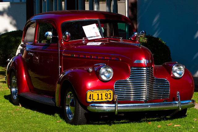 1940 chevrolet 2 door sedan modesto grafitti night 2009 for 1940 chevy 4 door sedan