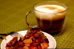 breakfast   cherry apple pie and timor peaberry capp…