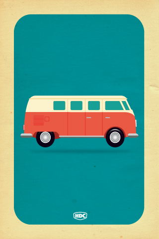 VW Camper Van iphone Wallpaper  At last! Exclusive Hand Dra\u2026  Flickr  Photo Sharing!
