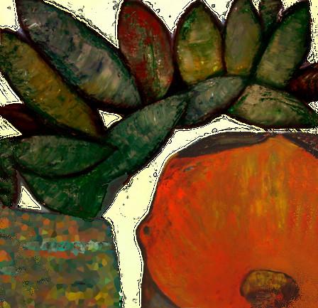 Allen Tager, Mexican Farmer, 1995, USA, 120x120 cm, oil on canvas