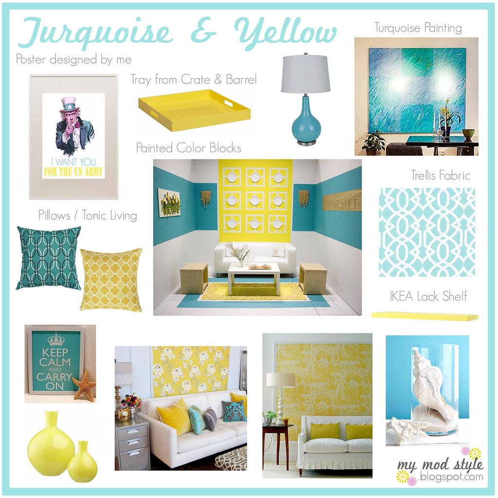 Luxury Turquoise and Yellow