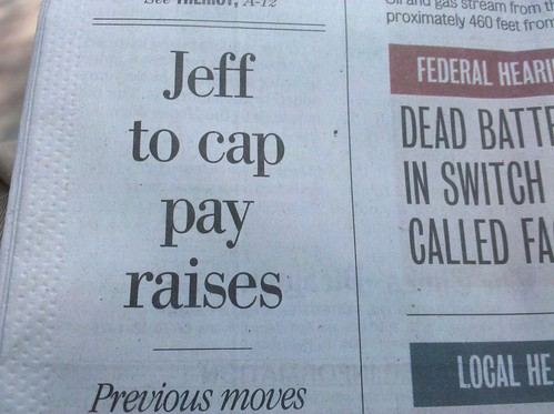 Jeff to cap pay raises