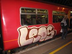 Leos train graffiti