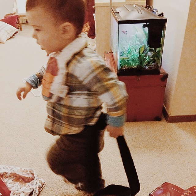 He wanted a tail. #instaluther #toddler #taleofatail