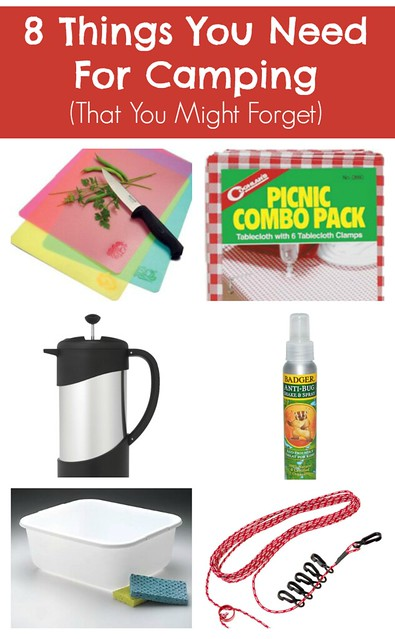 Things You Need For Camping -- click here to pin this post for your next camping trip!