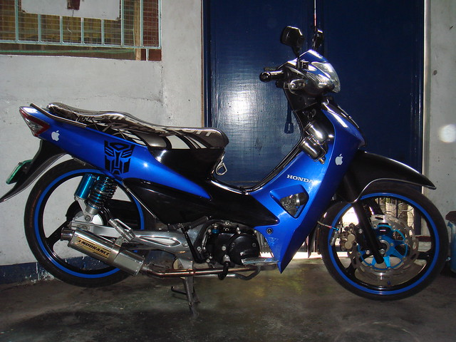 Honda Wave 100r Black Blue