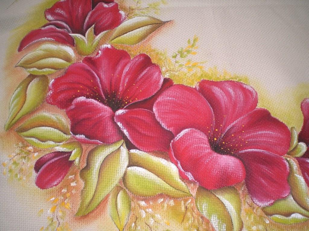 Curso De Pintura En Tela Mimi Luna Flickr