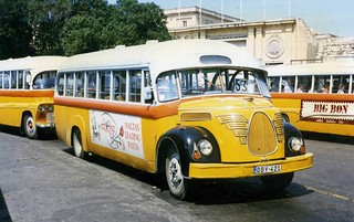 DBY 421 - The  Magirus Deutz  O3500 - Debono bus ex-no 1956 , Floriana,Malta 1996