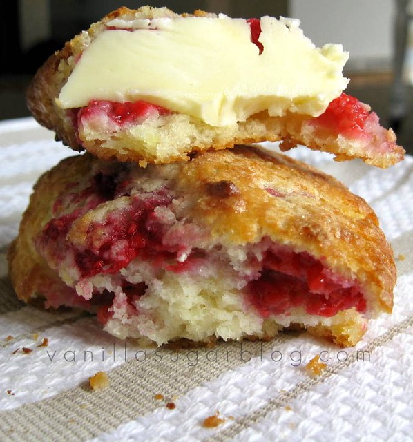 raspberry & lemon scones