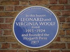 Photo of Virginia Woolf and Leonard Woolf blue plaque