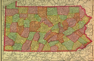 1895 Railroad Map of Pennsylvania