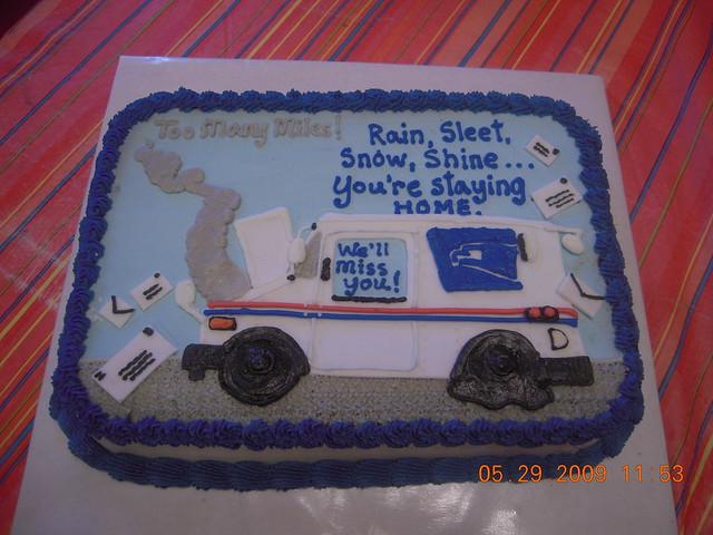 Postal Retirement Cakes