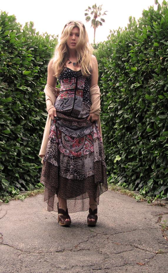 70s Style Maxi Dress