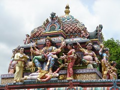 Detail of the statue of the Hindu Goddess Kali (Sri Veeramakaliamman temple)