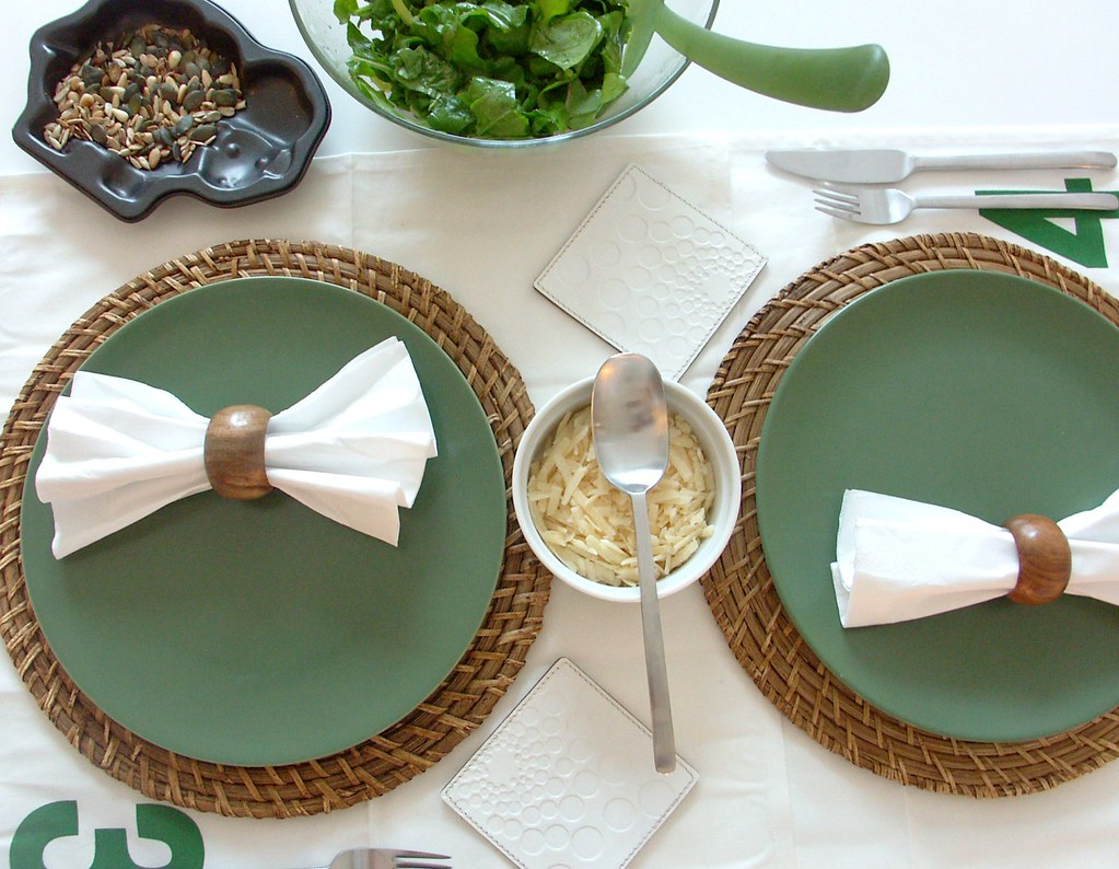 Napkins used as table runner