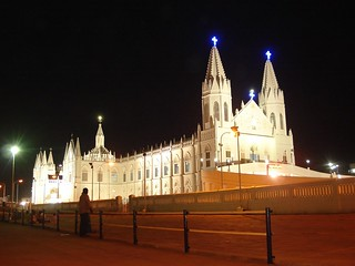 Velankanni Church @ night