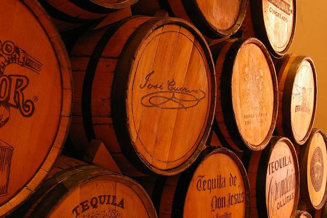 Tonneaux de tequila.