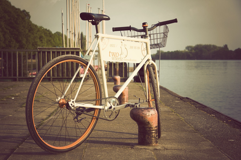 the delivery bike