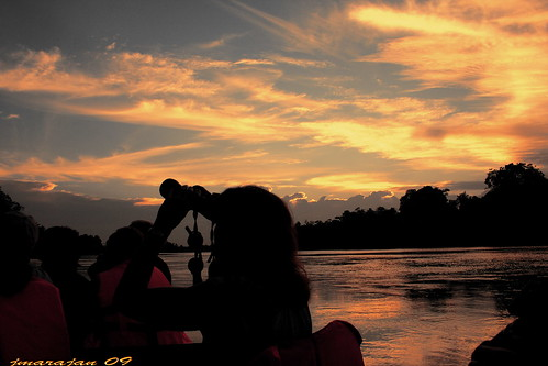 sunset of kinabatangan....