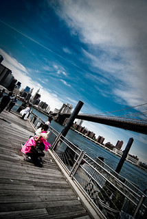 Bridal Maid at the Brooklyn Bridge