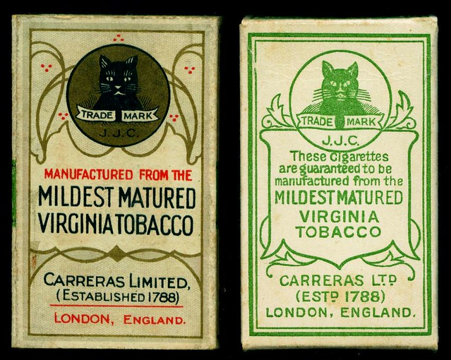 Cigarette Packet - Black Cat back & slider