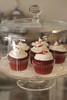Red velvet cupcakes at Santoro's