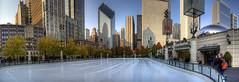The McCormick Tribune Plaza Ice Rink