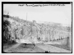 West Point cadets coming on field  (LOC)