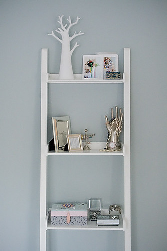Ladder/shelf in the bedroom