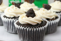 Girl Scout Thin Mint Chocolate Cupcakes