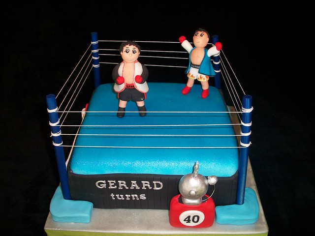 Boxing Cake Figures