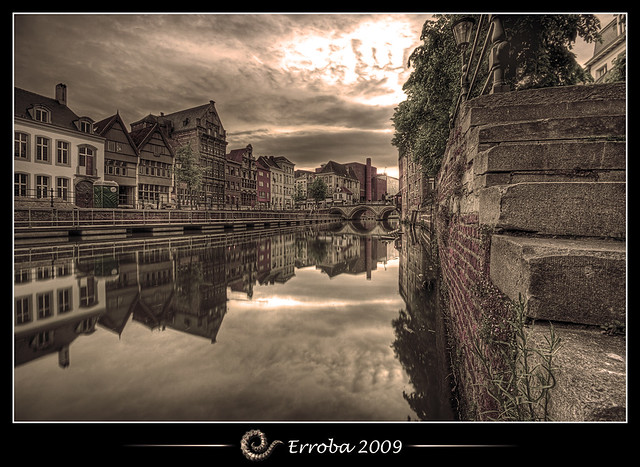 Low down by the water @ Mechelen, Belgium :: HDR