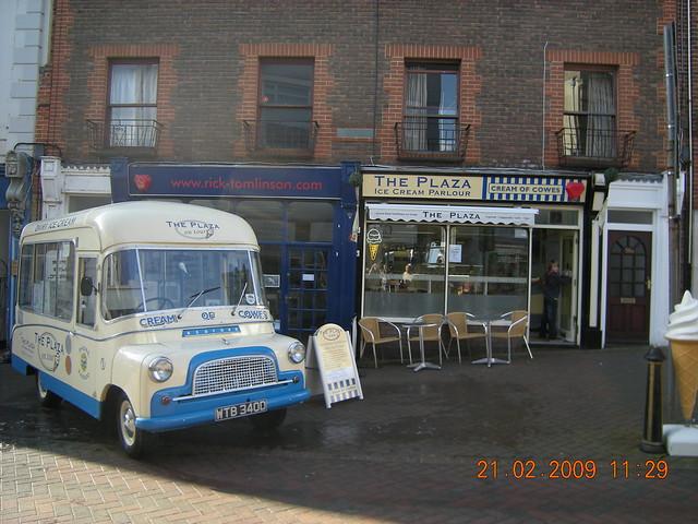 The Plaza Ices Classic Ice cream van and ice cream parlour isle of wight