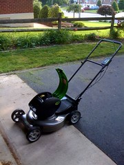 My new electric lawn mower is awesome!