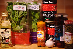 Puttanesca Sauce ingredients