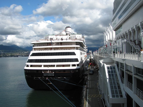 Vancouver's Cruise Ship Season 2010: Holland America's Zaandam at Canada Place by susan gittins
