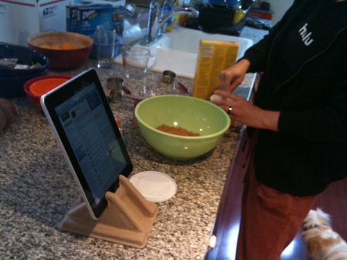 Now your cookin with ipad!