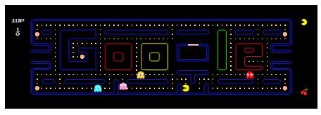 google pacman full screen