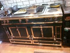 gas stove, kitchen stove,