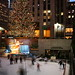 Ice Skaters at Rockefeller Center, with Christmas Tree