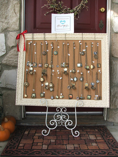 My Craft Fair Jewelry Frame Display!