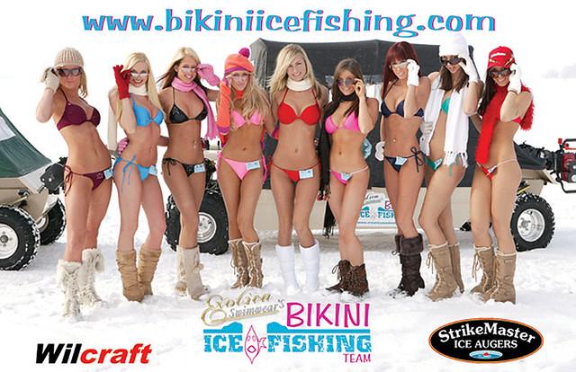 bikini ice fishing team calendar